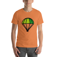 Emoji T-Shirt Store | Parachute emoji t-shirt in Orange