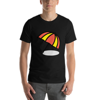 Emoji T-Shirt Store | Umbrella On Ground emoji t-shirt in Black