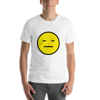 Emoji T-Shirt Store | Expressionless Face emoji t-shirt in White