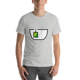 Emoji T-Shirt Store | Teacup Without Handle emoji t-shirt in Light gray
