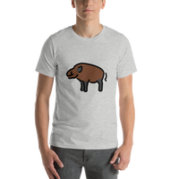 Emoji T-Shirt Store | Boar emoji t-shirt in Light gray