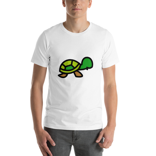 Emoji T-Shirt Store | Turtle emoji t-shirt in White