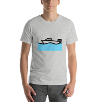 Emoji T-Shirt Store | Motor Boat emoji t-shirt in Light gray