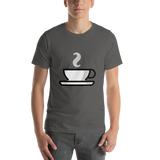 Emoji T-Shirt Store | Hot Beverage emoji t-shirt in Dark gray