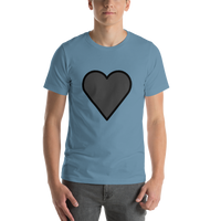 Emoji T-Shirt Store | Black Heart emoji t-shirt in Blue