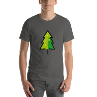 Emoji T-Shirt Store | Christmas Tree emoji t-shirt in Dark gray