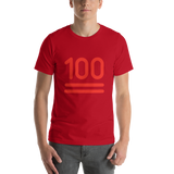Emoji T-Shirt Store | Hundred Points emoji t-shirt in Red