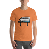 Emoji T-Shirt Store | Monorail emoji t-shirt in Orange
