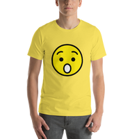 Emoji T-Shirt Store | Hushed Face emoji t-shirt in Yellow