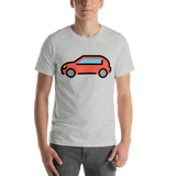 Emoji T-Shirt Store | Automobile emoji t-shirt in Light gray