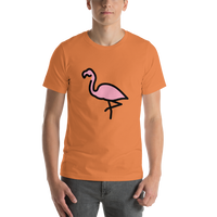 Emoji T-Shirt Store | Flamingo emoji t-shirt in Orange