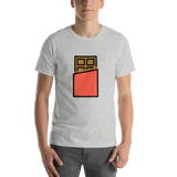 Emoji T-Shirt Store | Chocolate Bar emoji t-shirt in Light gray