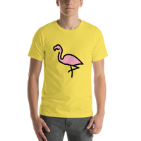 Emoji T-Shirt Store | Flamingo emoji t-shirt in Yellow