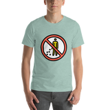 Emoji T-Shirt Store | No Littering emoji t-shirt in Green