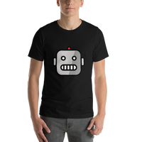 Emoji T-Shirt Store | Robot emoji t-shirt in Black