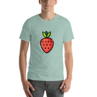 Emoji T-Shirt Store | Strawberry emoji t-shirt in Green