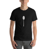 Emoji T-Shirt Store | Spoon emoji t-shirt in Black