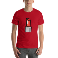 Emoji T-Shirt Store | Lipstick emoji t-shirt in Red