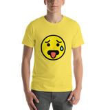 Emoji T-Shirt Store | Hot Face emoji t-shirt in Yellow
