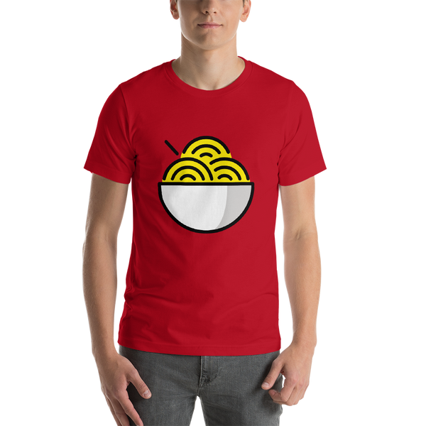 Emoji T-Shirt Store | Noodles emoji t-shirt in Red