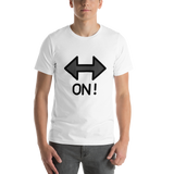 Emoji T-Shirt Store | On! Arrow emoji t-shirt in White