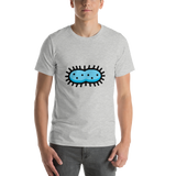 Emoji T-Shirt Store | Microbe emoji t-shirt in Light gray