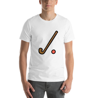 Emoji T-Shirt Store | Field Hockey emoji t-shirt in White