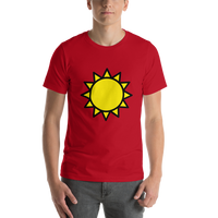 Emoji T-Shirt Store | Sun emoji t-shirt in Red
