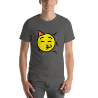 Emoji T-Shirt Store | Partying Face emoji t-shirt in Dark gray
