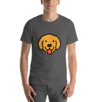 Emoji T-Shirt Store | Dog Face emoji t-shirt in Dark gray