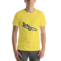 Emoji T-Shirt Store | Airplane Arrival emoji t-shirt in Yellow
