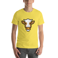 Emoji T-Shirt Store | Cow Face emoji t-shirt in Yellow