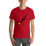 Emoji T-Shirt Store | Shooting Star emoji t-shirt in Red