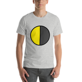 Emoji T-Shirt Store | Last Quarter Moon emoji t-shirt in Light gray