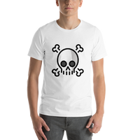 Emoji T-Shirt Store | Skull And Crossbones emoji t-shirt in White