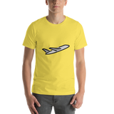 Emoji T-Shirt Store | Airplane Departure emoji t-shirt in Yellow