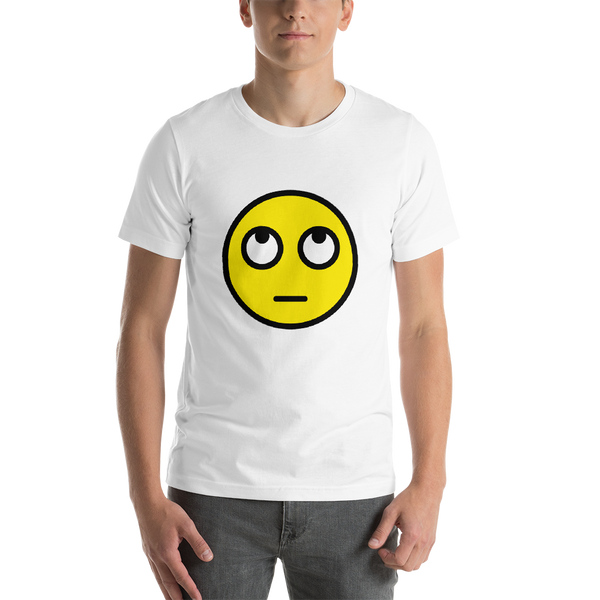 Emoji T-Shirt Store | Face With Rolling Eyes emoji t-shirt in White