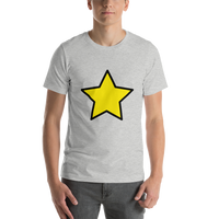 Emoji T-Shirt Store | Star emoji t-shirt in Light gray