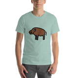 Emoji T-Shirt Store | Boar emoji t-shirt in Green
