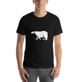 Emoji T-Shirt Store | Polar Bear emoji t-shirt in Black