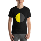 Emoji T-Shirt Store | Last Quarter Moon emoji t-shirt in Black