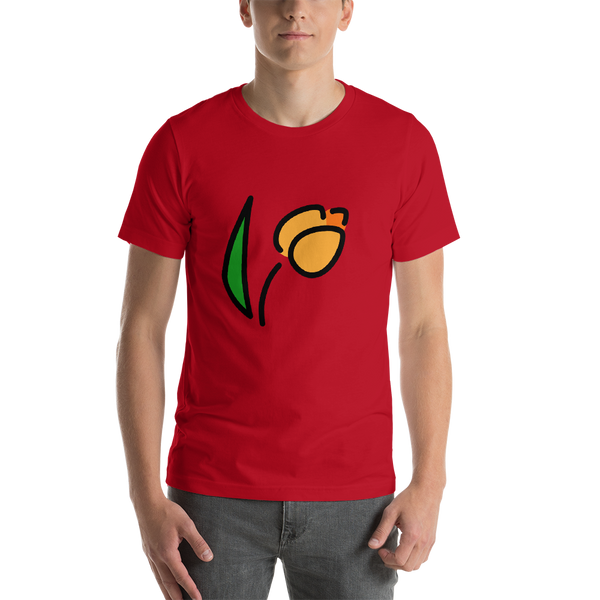 Emoji T-Shirt Store | Tulip emoji t-shirt in Red