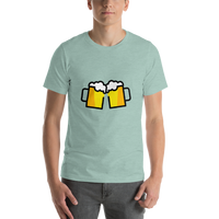 Emoji T-Shirt Store | Clinking Beer Mugs emoji t-shirt in Green