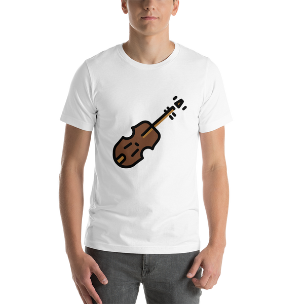 Emoji T-Shirt Store | Violin emoji t-shirt in White