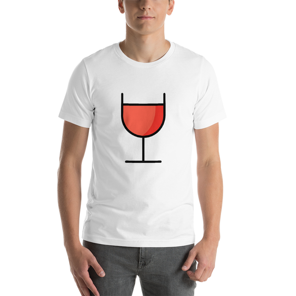 Emoji T-Shirt Store | Wine Glass emoji t-shirt in White