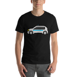 Emoji T-Shirt Store | Police Car emoji t-shirt in Black