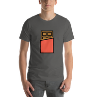 Emoji T-Shirt Store | Chocolate Bar emoji t-shirt in Dark gray