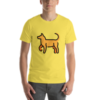 Emoji T-Shirt Store | Dog emoji t-shirt in Yellow