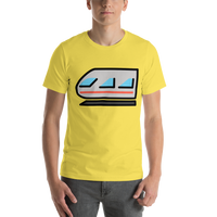 Emoji T-Shirt Store | Light Rail emoji t-shirt in Yellow