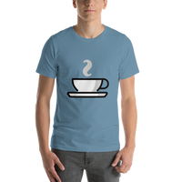 Emoji T-Shirt Store | Hot Beverage emoji t-shirt in Blue